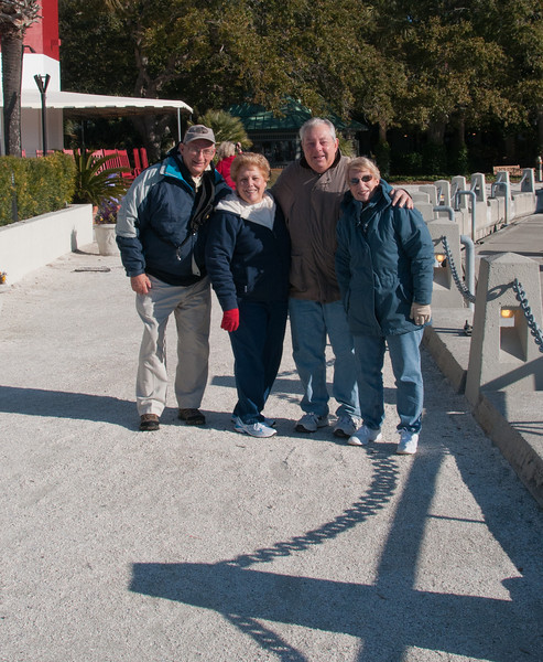 • Harbour Town<br /> • Arnold, Sandy, Max, and Lynn near the Lighthouse and all bundled up since it was so cold.
