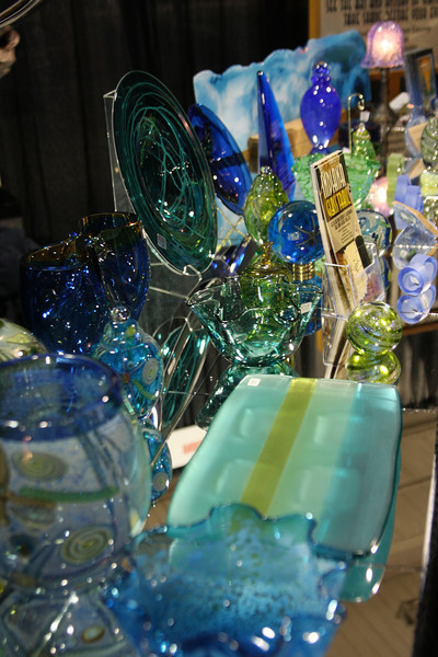 There was beautiful art glass from a number of artists. This is an example from Kokomo Glass Works - the company that made glass for Tiffany!