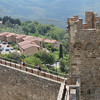 We also mid-day in Montalcino, the home of Brunello. This shot was taken from one of the towers on the castle walls.