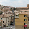 Love this view of the tiny village of Montalcino from the castle wall.