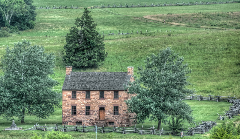 This photo of the Stone House was taken from the hill around from the visitor's center