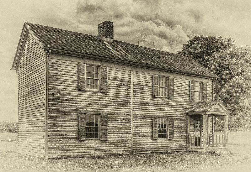 Vintage looking photo of the old Henry House