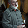 Bob Klindt of Claudia Springs Winery shares barrel samples of his latest Pinot Noir.