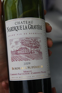 The label of Nicolas' family. And note, it's a Bordeaux with the grapes listed on the LABEL! Not sure I had ever seen that before out of Bordeaux.