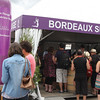 This is just a typical booth at the Fete le Vin. For admission, the public would get a small wine glass in a carrying case and coupons for a handful of tastings. More tickets could be purchased to continue the exploration.