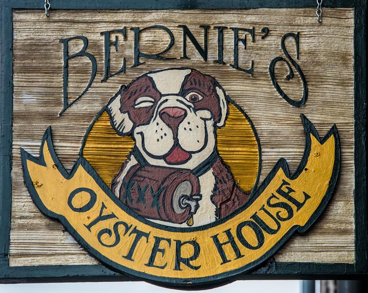 Bernie's Oyster House Restaurant sign