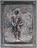 Bronze sculpture plaque of Major General Nathanael Greene
