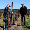 Vineyard owner and manager Randy Peters with Erik in the vineyard.