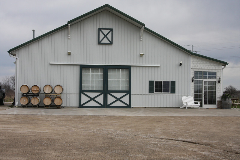 LedgeStone Winery is about 1 mile north of Greenleaf, on Hwy 57, just south of Green Bay.