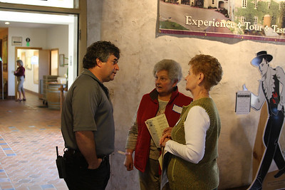 During a walk through the winery and tasting, Philipee would seek out customers to answer a question or say hello.
