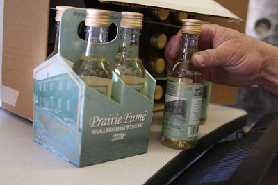 Philippe was proud to show off these little single-glass wine bottles made of plastic. The wine, of course, is his signature Prairie Fume.