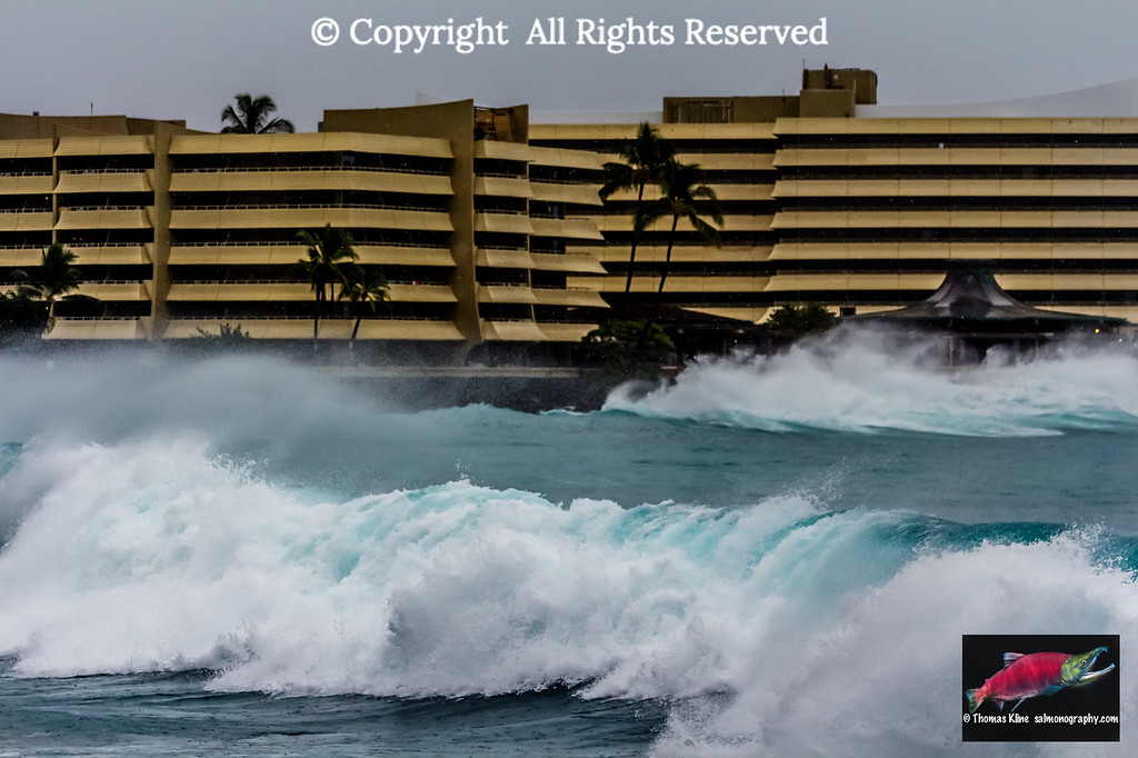 High surf near Royal Kona Resort, Kailua-Kona, Hawaii Island