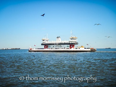 Another of the ferries in action.