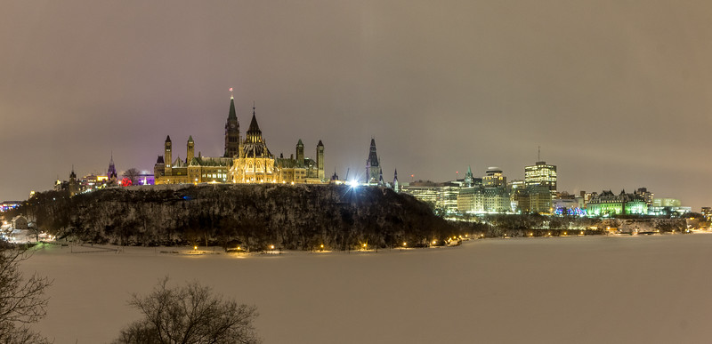 Parliament Hill at Night
