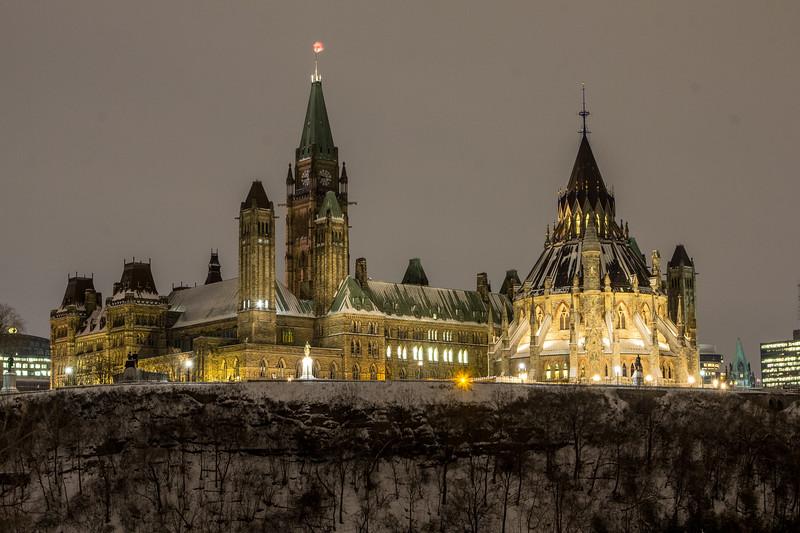 Parliament Hill at Night