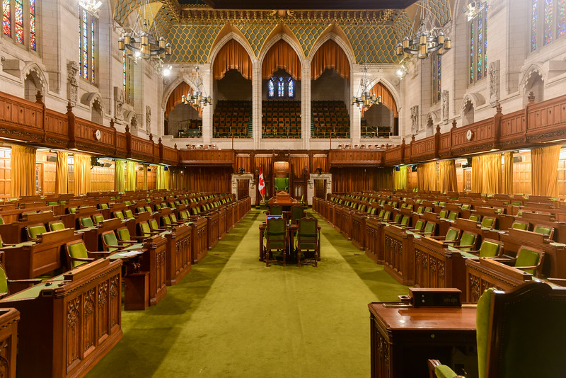 House of Commons of Parliament Building - Ottawa, Canada