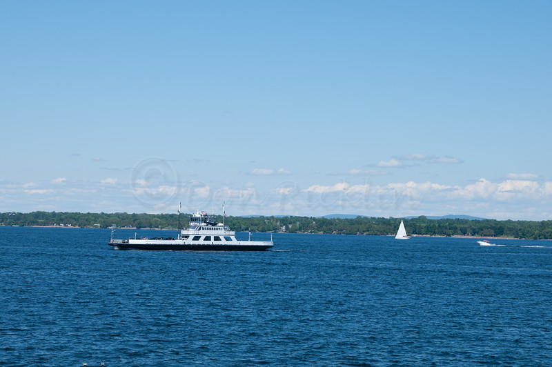 Ferry across Lake Champlain.