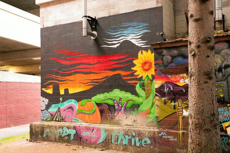 Tag work mural.