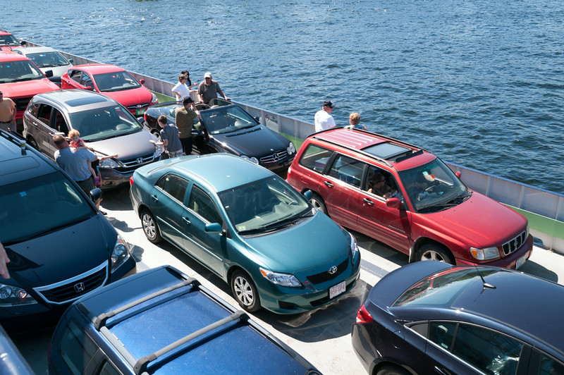 Our car on the Ferry to Vermont form New York.