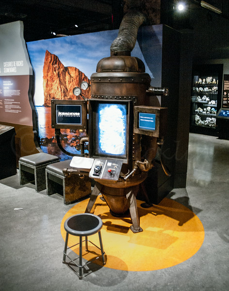 Interactive the in the Earth Change Exhibit. Very Steam Punk looking.