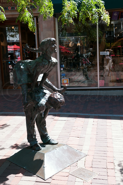 Leap Frogging on CHurch Street.