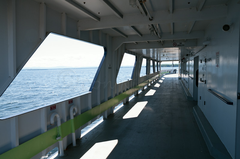 Empty side of the Ferry.