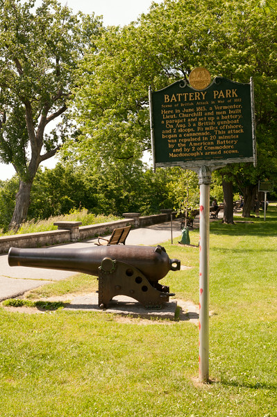 Cannon at Battery Park.