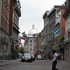 Looking back towards the domed Marketplace on Rue St. Paul, the main street running through Old Montreal