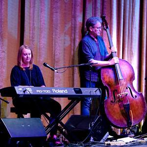 Trevor Hutchinson on bass with Kathleen Boyle on the keyboard.