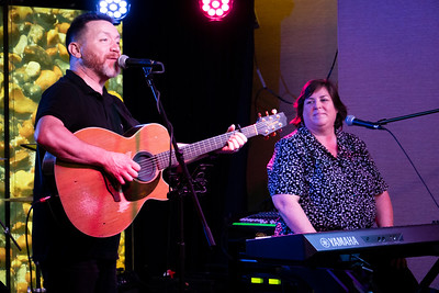 Padraig Allen performed as our Irish cruise director, Joanie Madden sang harmonies for him.