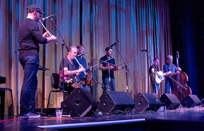 The spectacular all-male Irish band, Lunasa. They were among our favoties on the crise.