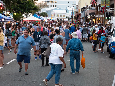 Front Street is crowded with tourists on Wednesday nights.