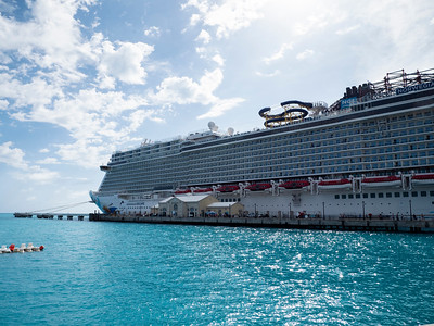 As we debark on Wednesday morning, we get a view of our Norwegian Escape from the shore. It truly is a floating city.