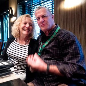 S and M at Tepanyaki restaurant.