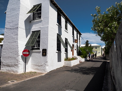 Beautiful narrow back streets of St. George. Reminiscent of the narrow roads of countryside England.