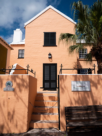 This 17th century house is now a museum. The pastel homes give Bermuda its unique look.