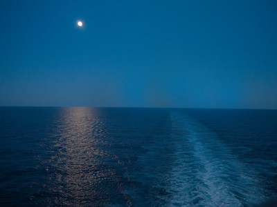 The Atlantic, the moon and us.