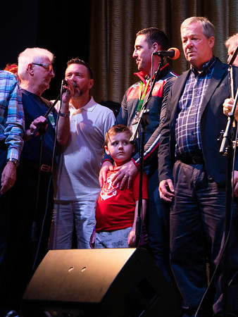 This little boy ran up to be with his father who held him close as he sang. Beautiful!