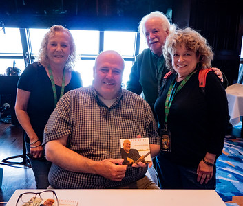 The great Irish tenor Don Stiffe, with Stacey, Mark and Janie.