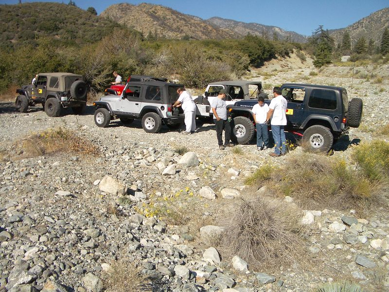 "3n06A: ROC's First Trail!The ""AAT Crew"" Bud and Jason, Doug, Sandy (welcome back), Richard and I, and Castulo and Castulo Jr."
