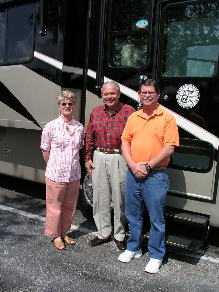 Lynda, Bob Tiffin - the owner of Tiffin Motor Homes that produces the Allegro Bus, Ron