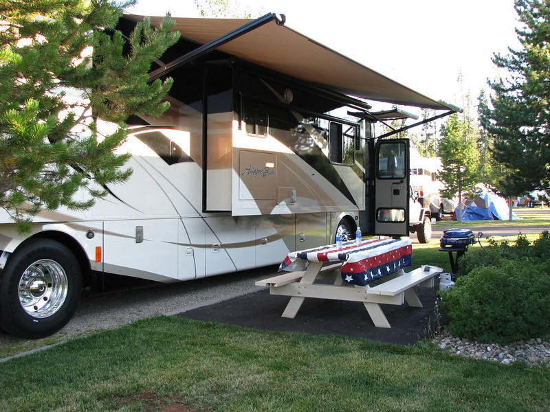 Campsite at Grizzly RV Park, West Yellowstone, MT.