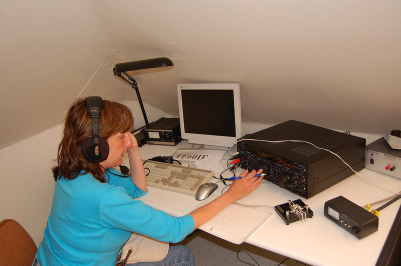 Me on the air from TF3IRA as TF/KC1YR in Reykjavik (Bev's photo)
