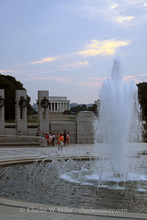 A view of the Lincoln Memorial from the World War II Memorial