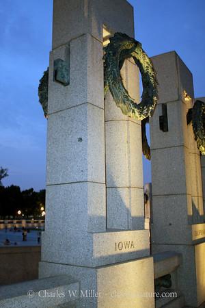 The Iowa pillar at the World War II Memorial
