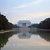 The Lincoln Memorial and its reflection