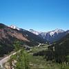 Along the Million Dollar Hwy in Colorado
