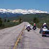Approaching Jackson Hole WY and the Teton Mountains