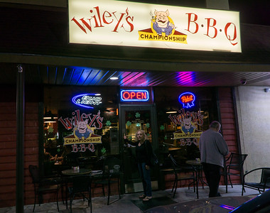 We drove a bit out of town on our last night for this: Wiley's Championship BBQ. Been there before and it was as good this time as last.