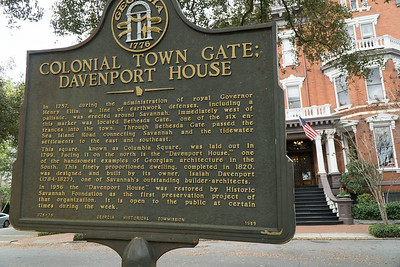 Most of the squares have historic markers explaining the significance of the area. This one refers to the Davenport House built in 1820 (next photo).
